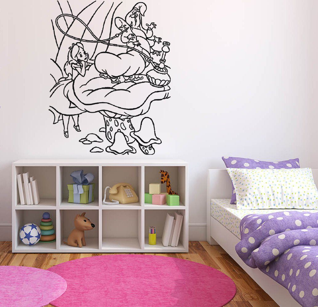 Alice in wonderland wall decal wall decals wall tattoo and alice