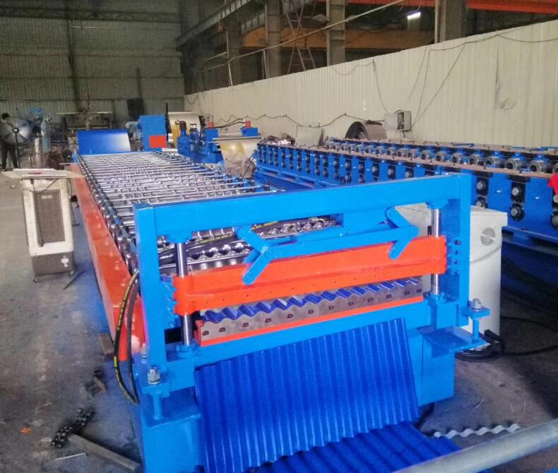 There Are Two Production Lines For Double Layer Roofing Machine And The Two Production Lines Can Produce Two Different Roofing Roofing Sheets Double Layer