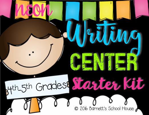 Writing Center Starter Kit 4th & 5th Grade #editableprintables #freeprintables