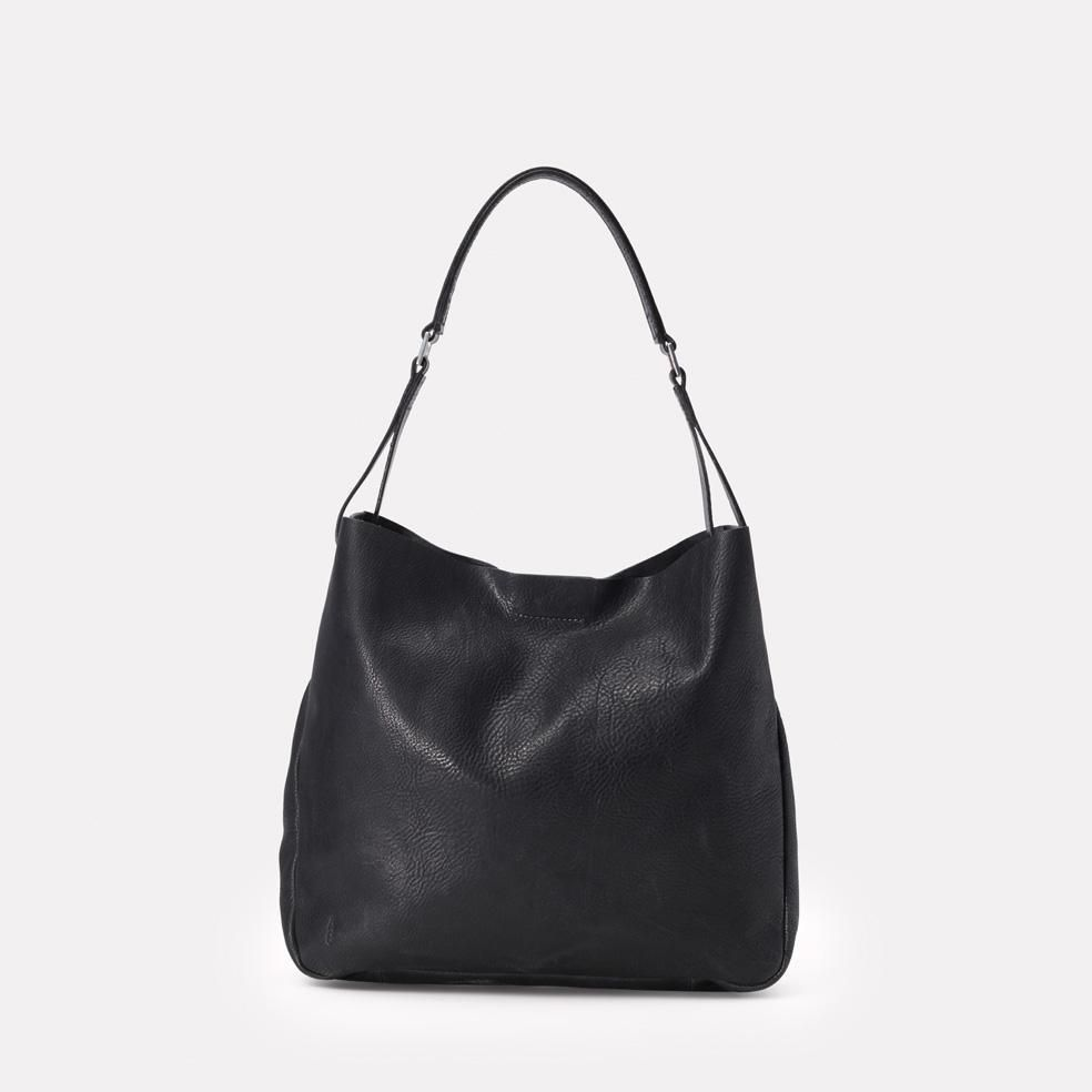 414903d38fcd Lloyd Waxed Cotton Bucket Bag in Black