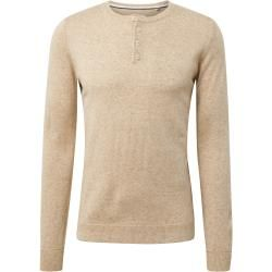Photo of Tom Tailor men's knit sweater with Henley collar, beige, plain, size xxl Tom TailorTom Tailor