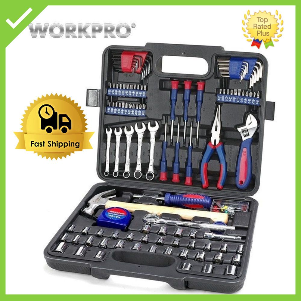 High Quality Workpro 165pc Home Car Outdoor Household Tool Set Hand Tools Household Tools Tool Set Hand Tools