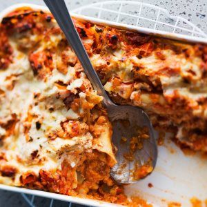 Kasvislasagne - Vegetable lasagne