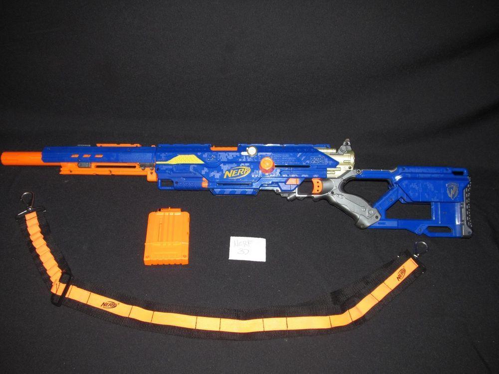 Nerf N-Strike CS-6 Longstrike Replacement Shoulder Stock Blue w// Screws