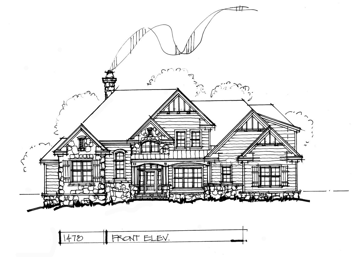 CONCEPTUAL HOUSE PLAN TWOSTORY CRAFTSMAN Craftsman House - How to check elevation