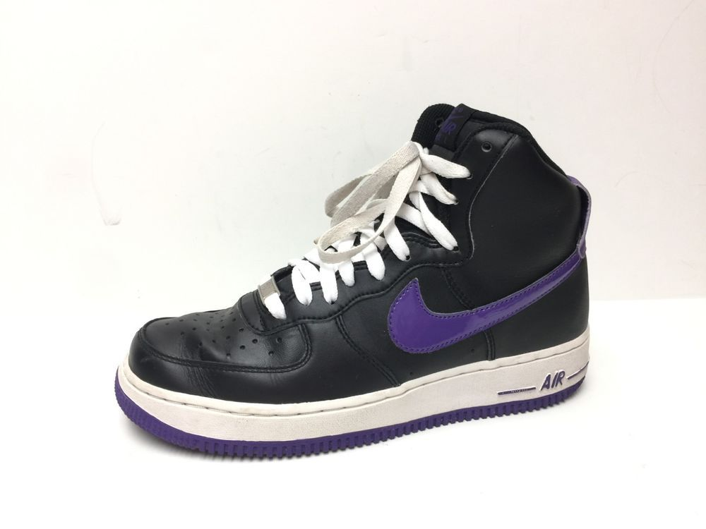 df52ee5fa8f2 NIKE AIR FORCE 1 High Black Court Purple Sneakers Size 7.5 315121-021   fashion  clothing  shoes  accessories  mensshoes  athleticshoes (ebay link)