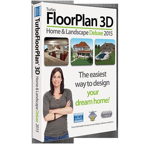 TurboFloorPlan 3D Home & Landscape Deluxe 2015 Software