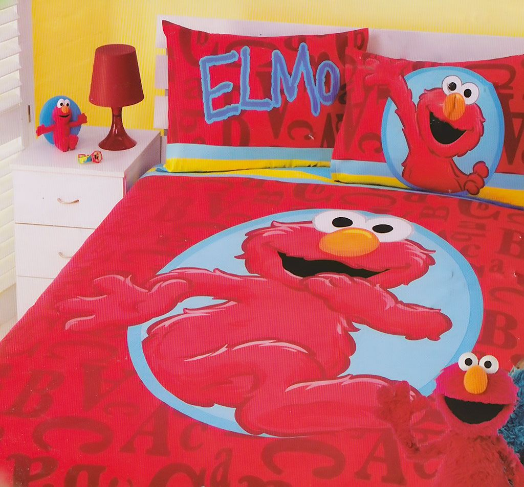 elmo red quilt cover set from kids bedding dreams sesamestreet elmo