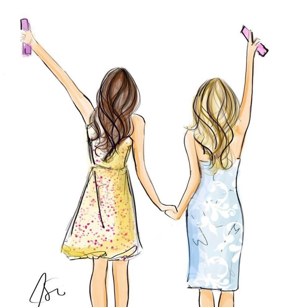 """966 Likes, 34 Comments - Melsy's Illustrations © (@melsysillustrations) on Instagram: """"It's FriYAY! Tag your bff  #fashionillustration #art #melsys #melsysillustrations #nyc…"""""""
