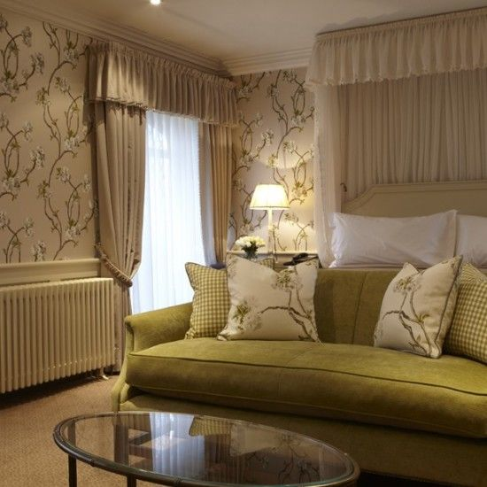 Bedroom At Ellenbrough Park Hotel Orchard Blossom Fabric And - Country house hotel interiors