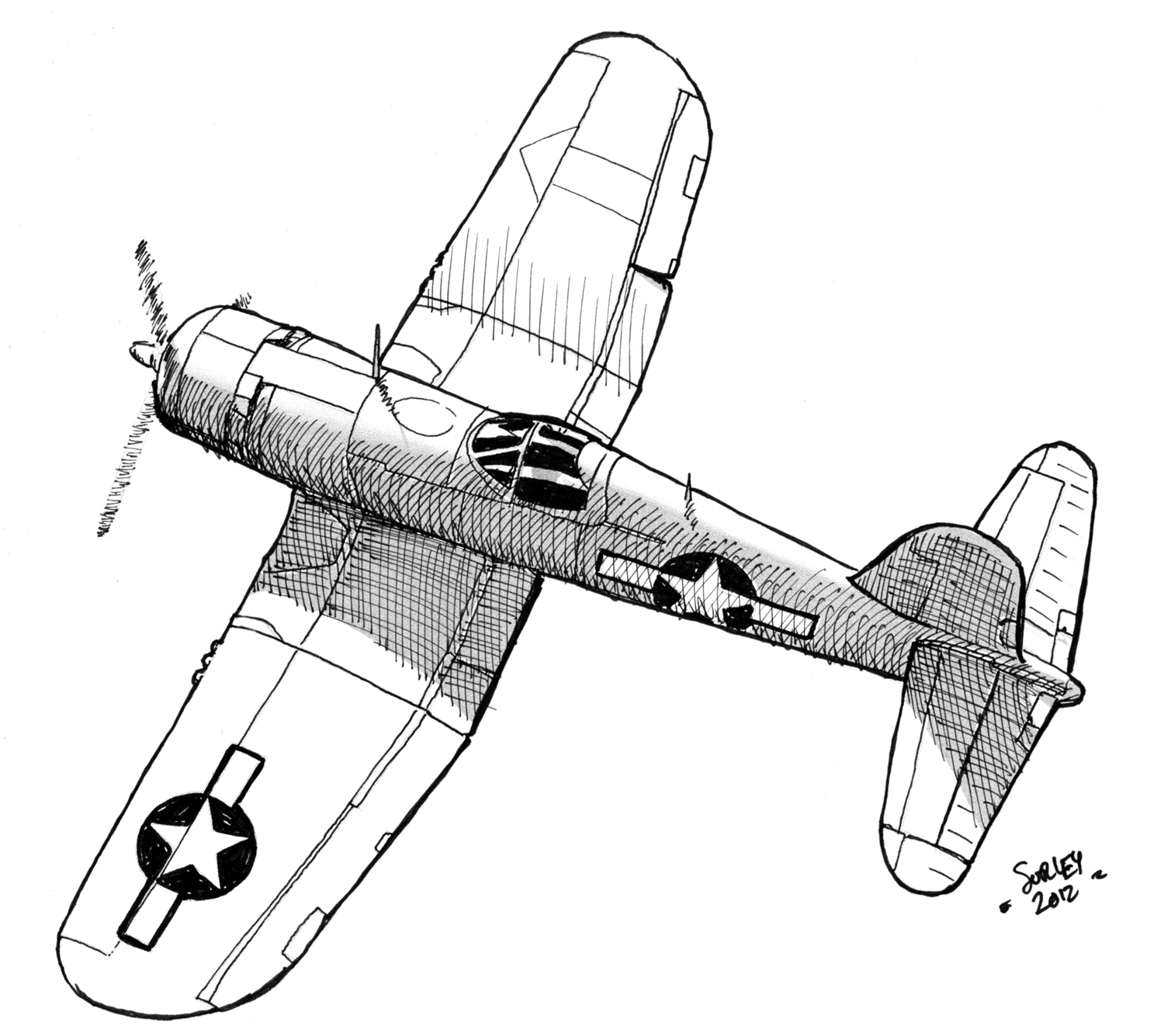 ww2 fighter plane coloring pages