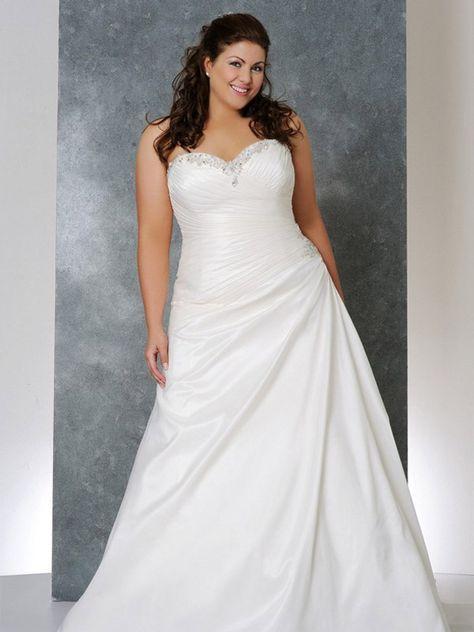 Schlichte Hochzeitskleider für Mollige | Brautkleid | Pinterest