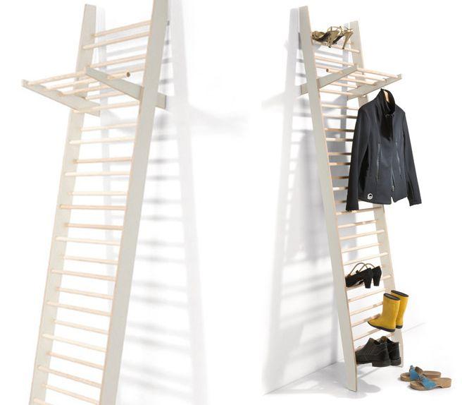 Garderobe Leiter die schuhgarderobe zeugwart ist ein regal in leiterform die auf