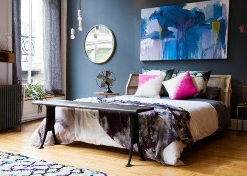 ideen schlafzimmer eklektisch moderne kunstwerke Schlafzimmer