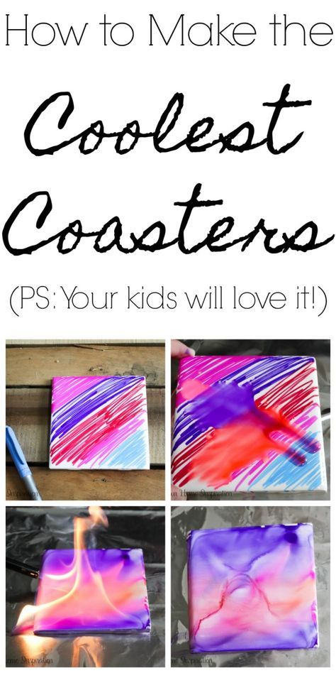 DIY the Coolest Coasters in Town #easycrafts