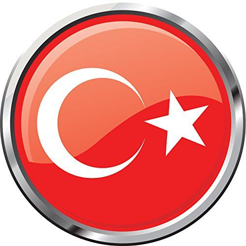 Turkey Flag Glossy Silver Medal Home Decal Vinyl Sticker 12 X 12 More Info Could Be Found At The Image Url Vinyl Sticker Window Stickers Turkey Flag