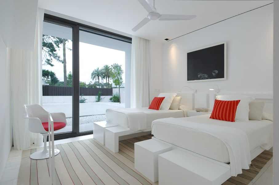 Find This Pin And More On Beautiful White Home Double Bed Bedroom In Sotogrande House
