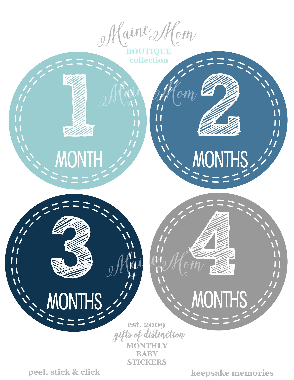 FREE GIFTS Nursery Decor  Woodland Nursery Navy Baby Monthly Stickers Blue GIFT  Arrow Baby Boy Month Stickers Gray Woodland Nursery