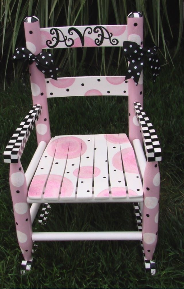 little girl chairs ikea dining chair covers malaysia girls rocking i painted my art album pinterest