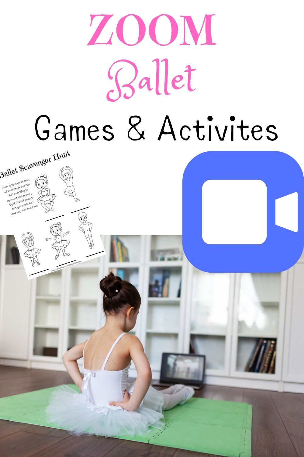 Zoom Ballet Games and activities Resources for Dance