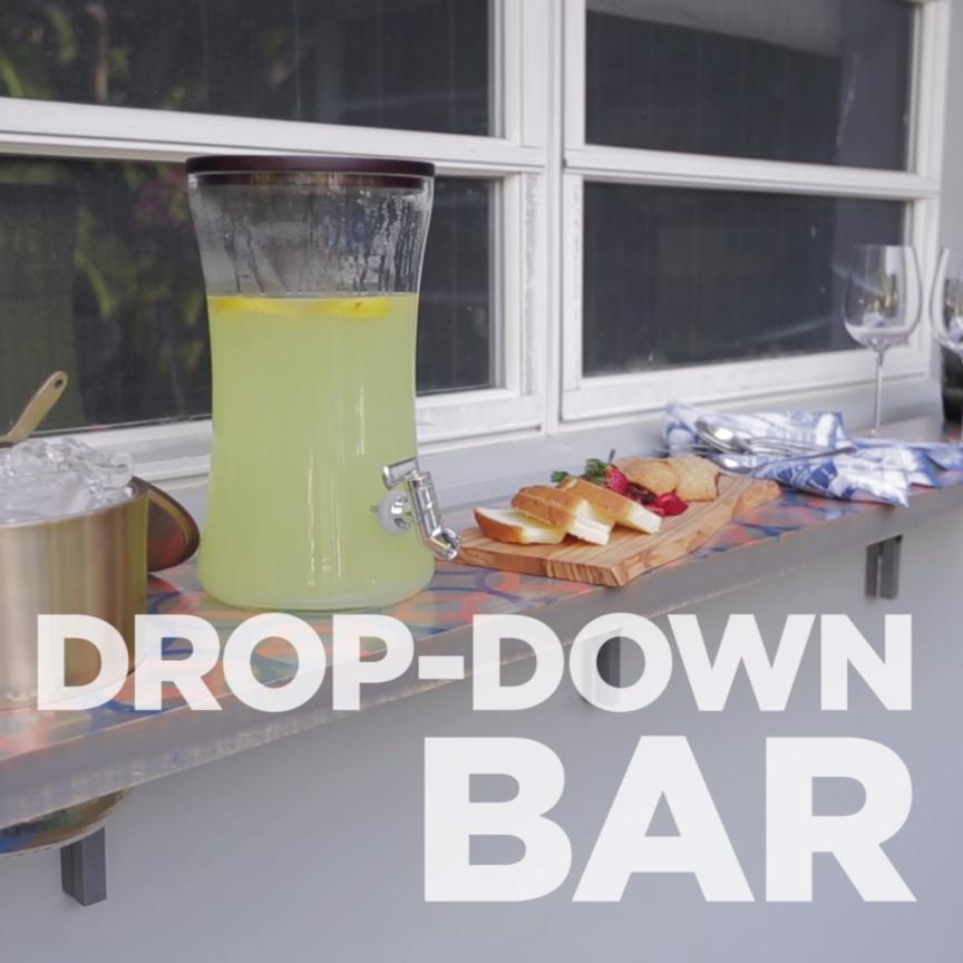 Build a Drop-Down Bar | Outdoor Living Ideas | Pinterest | Bar, Drop ...