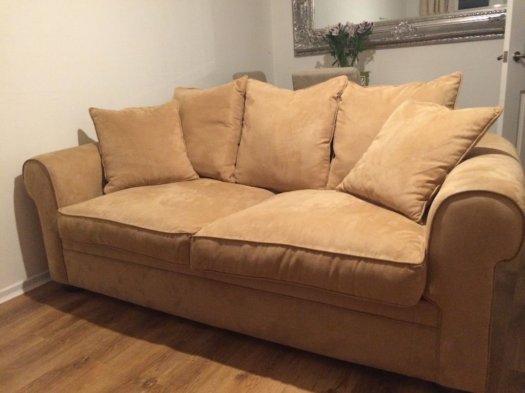 two large south african suede sofas | fife | gumtree | home