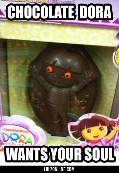 Chocolate Dora... #lol #haha #funny