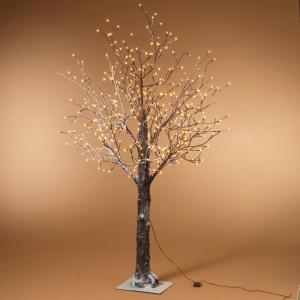 Gerson 60 In H Electric Willow Tree 2508380ec The Home Depot Snowy Trees Led Lights Faux Tree