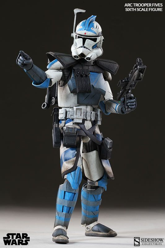 Star Wars Arc Clone Trooper Fives Phase Ii Armor Sixth Scal Star Wars Figurines Star Wars Images Star Wars Figures