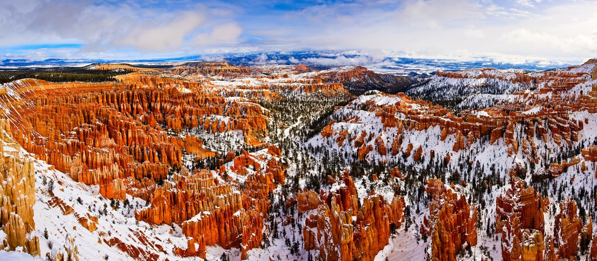 Fine Art Photography by Thomas Parry  Winter scene at the Amphitheater, Bryce Canyon National Park, Utah.