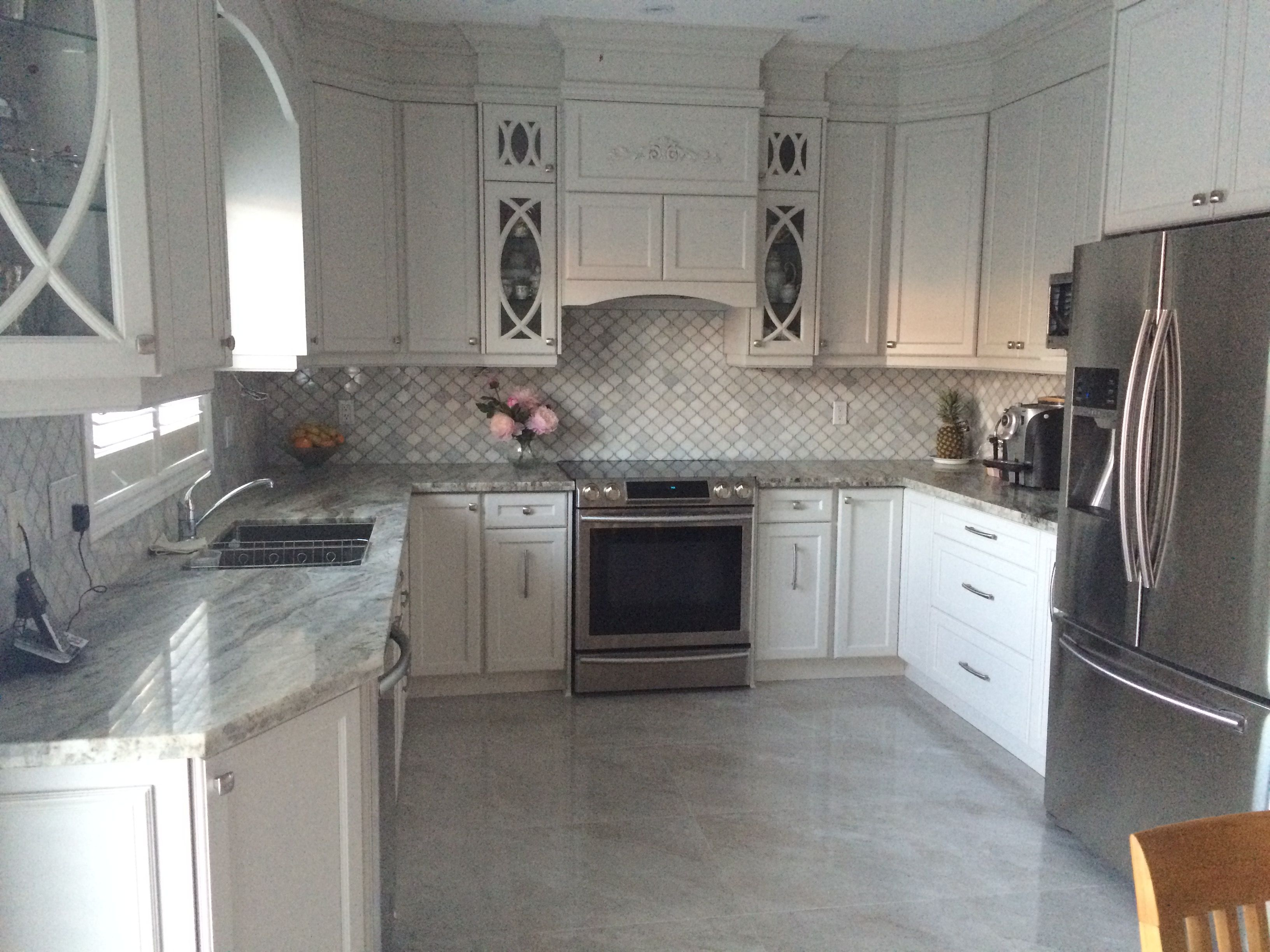 New Kitchen Furniture Our New Kitchen Balboa Cabinets Arabesque Backsplash Fantasy