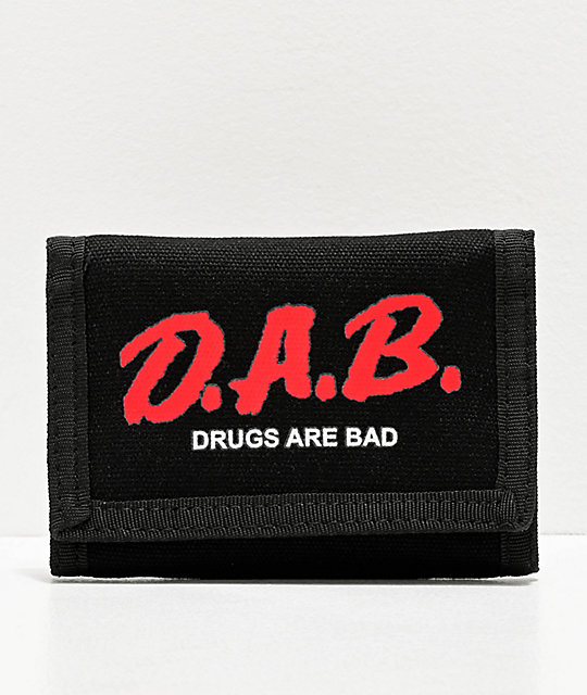 Artist Collective DAB Drugs Are Bad Black Trifold Wallet | Zumiez