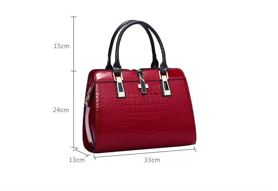 c10994380a Elegant Alligator Patent Leather Handbag Big Women s Shoulder Bags Cross  Lock  womensfashion  handbags  Fashion