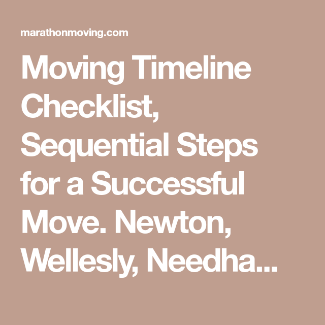 moving timeline checklist sequential steps for a successful move