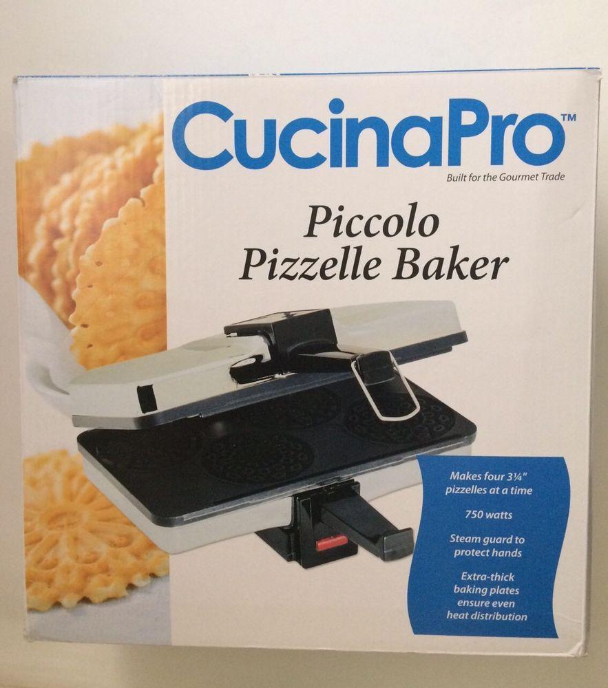 New Cucinapro Piccolo Pizzelle Baker Incl Recipes Make Ice Cream