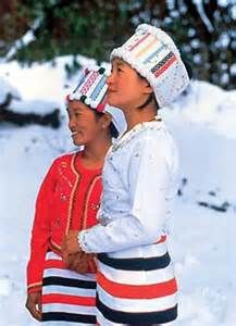 Myanmar Katchin Girls in the Snow