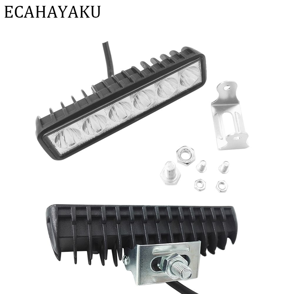 Find More Light Bar Work Light Information About Ecahayaku Slim 6 Inch 18w Drl Led Spot Work Light Worklight 9 32 Led Driving Lights Offroad Led Led Work Light