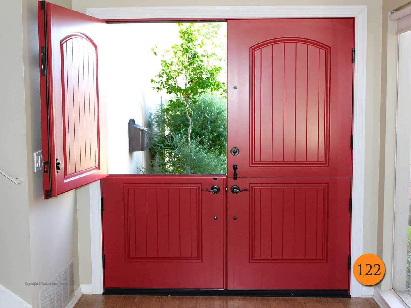 Traditional 72 X80 Plastpro Drs2g Fiberglass Double Dutch Door Installed In Huntington Beach