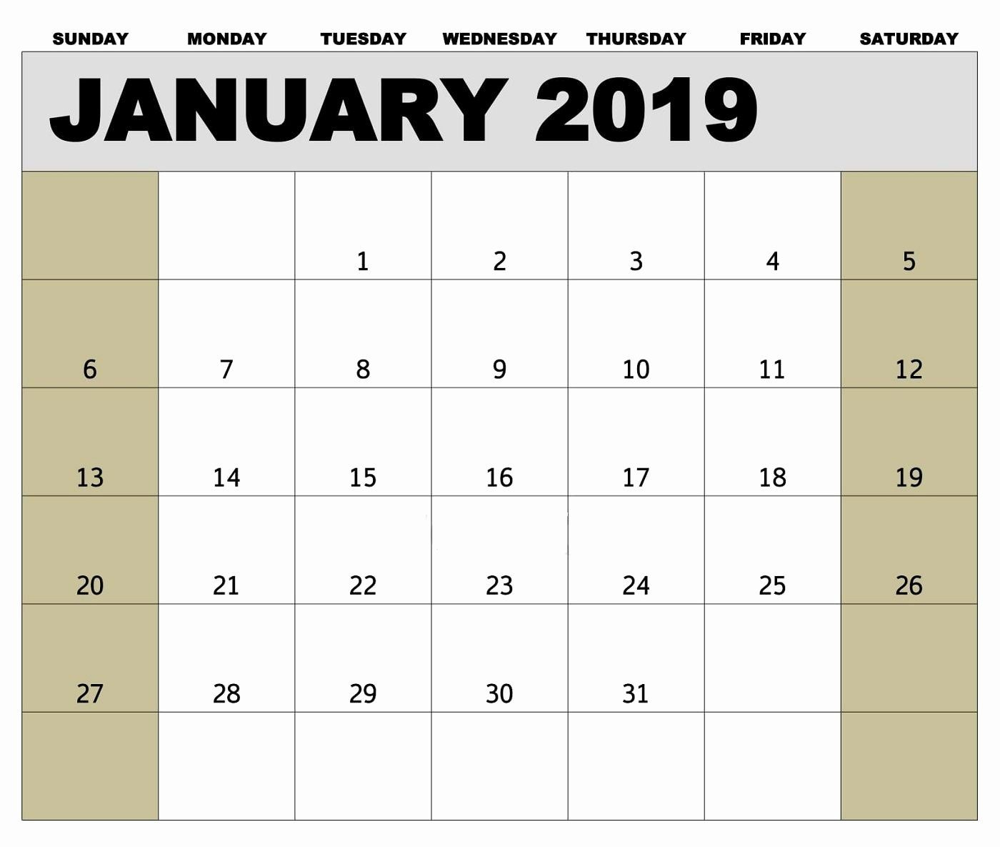 2019 Biweekly Payroll Calendar Template Excel Fresh 2019 Payroll Calendar Printable In 2020 Calendar Template Payroll Calendar Excel Calendar Template