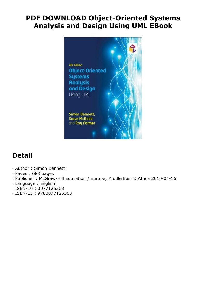 Pdf Object Oriented Systems Analysis And Design Using Uml Simon Bennett Pdf Ebook Kindle Epub Doc Audiobook Ebook Audio Books Mcgraw Hill Education