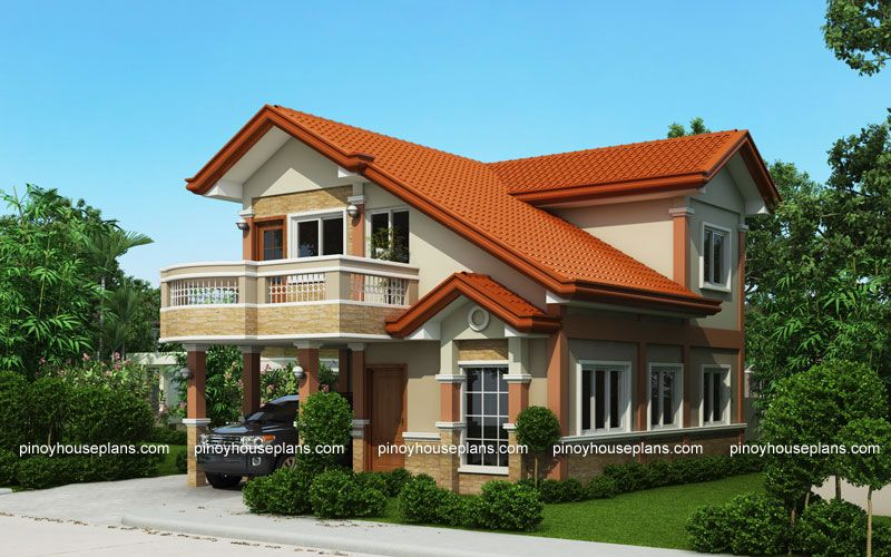 PHP-2015021, Two Storey House Plan with Balcony | House ...