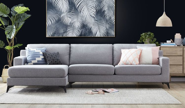 Grey Chaise Sofa Lounge