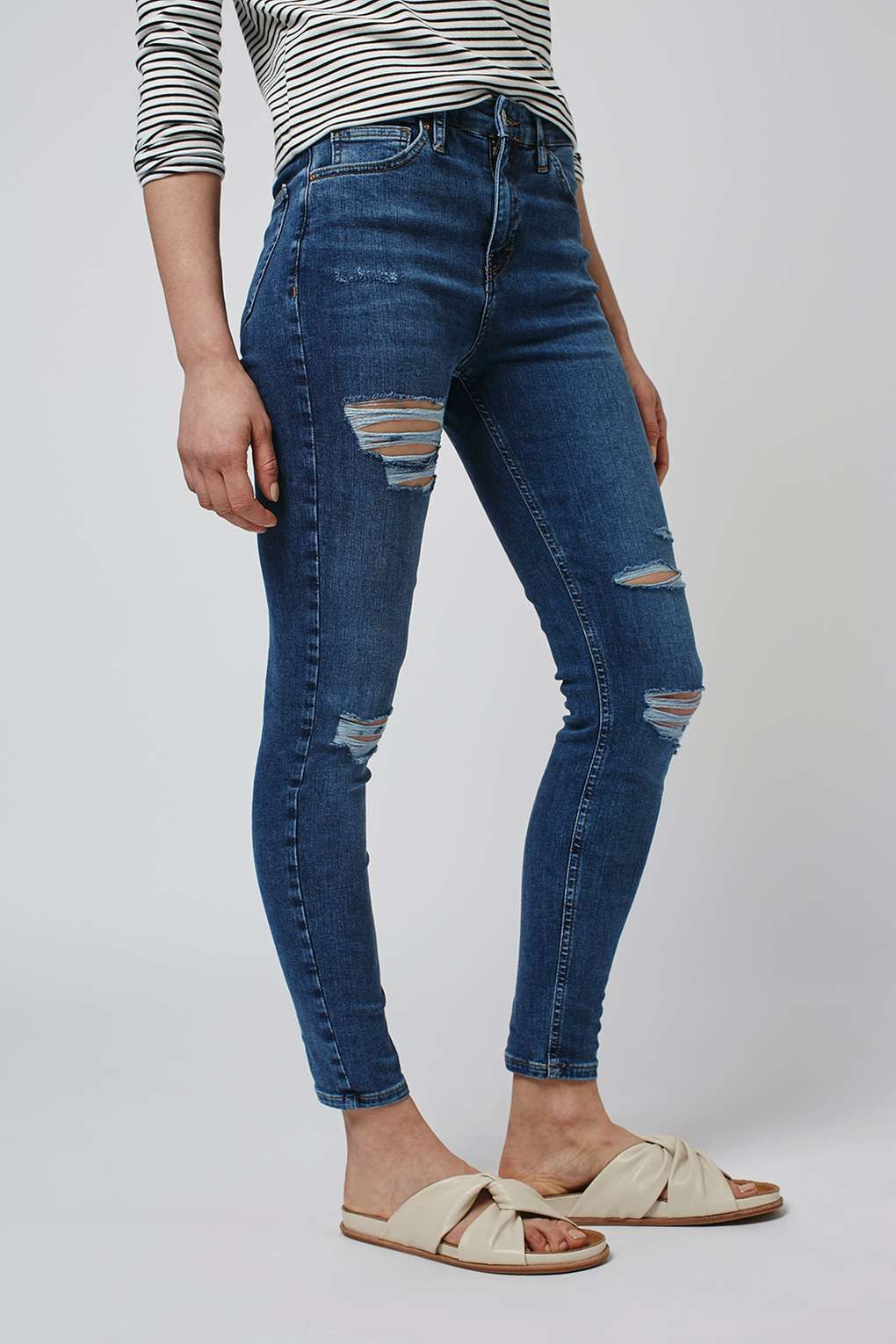 35a30456455 MOTO Super Rip Jamie Jeans - Topshop USA. Carousel Image 2 Ripped Knees, Ripped  Skinny ...