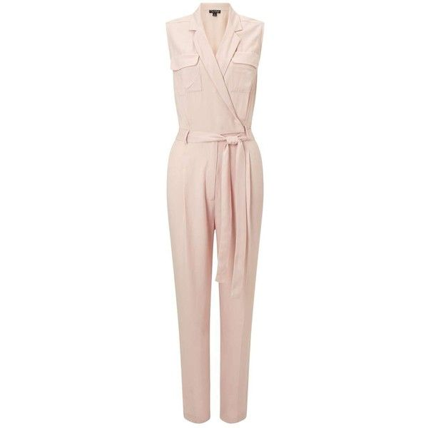 7e0660c8a7d Miss Selfridge Pink Utility Jumpsuit (110 CAD) ❤ liked on Polyvore  featuring jumpsuits