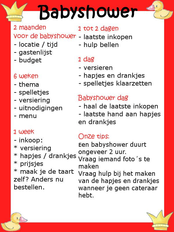 Geliefde Babyshower checklist, altijd handig | Leuke babyshower spelletjes #QS27