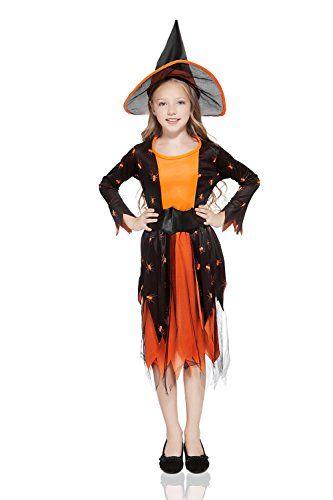 Halloween Costumes Girls Kids Girls Pumpkin Witch Halloween Costume - witch halloween costume ideas