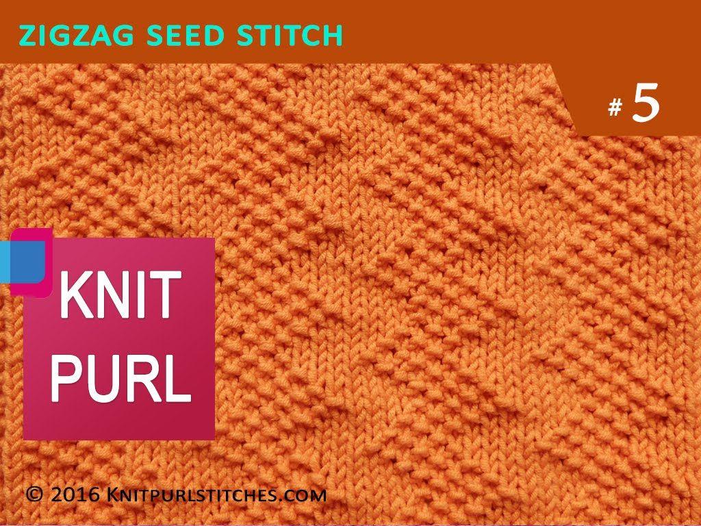 Knit Zig Zag Rib Stitch : Knit purl stitches zig zag seed stitch video