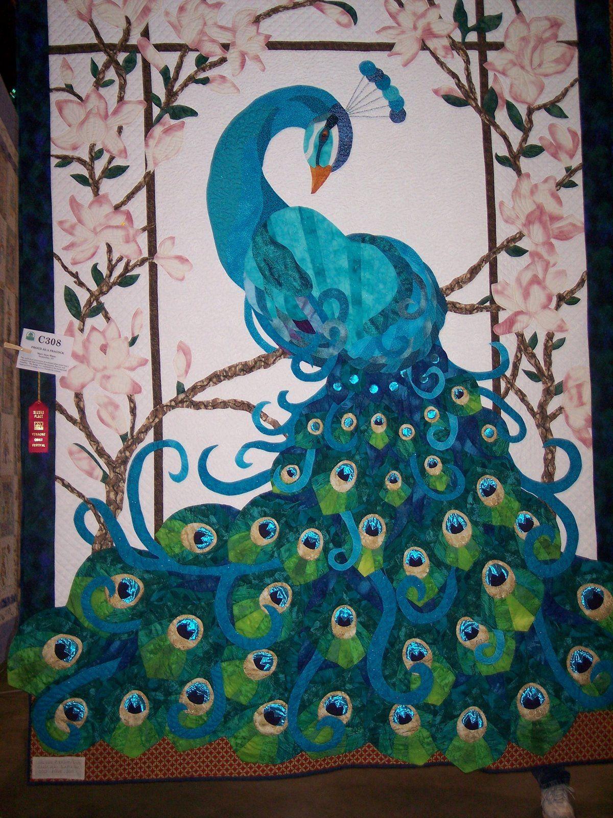 Peacock Applique Idea Peacock Quilt Animal Quilts Art