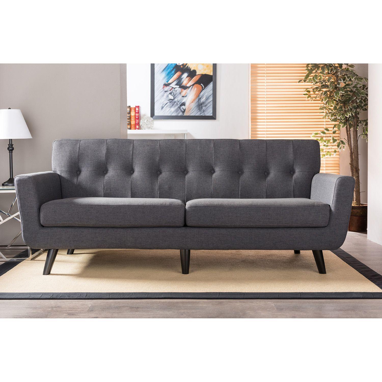 Wholesale Interiors Baxton Studio Oscar 3 Seater Sofa