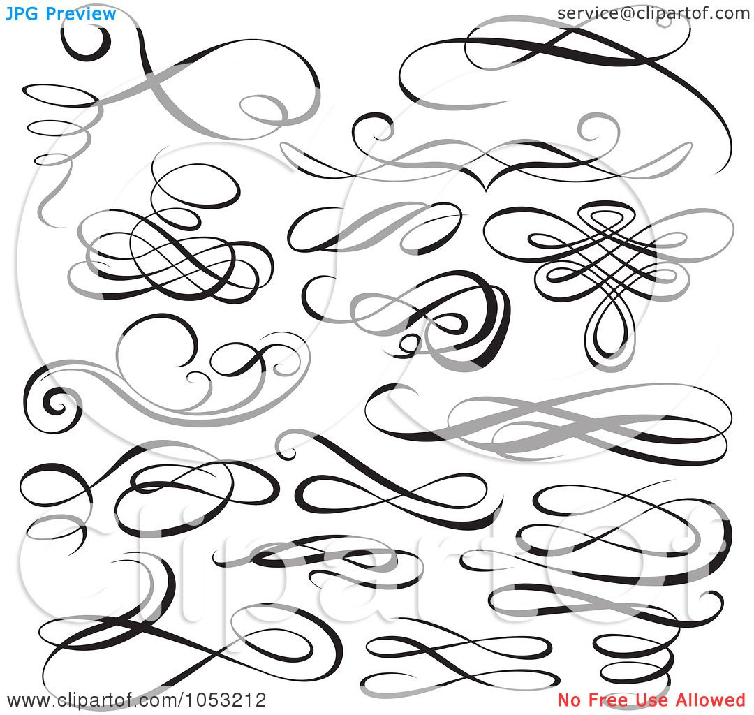 Royalty Free Vector Clip Art Illustration Of A Digital Collage Black And White Ornate